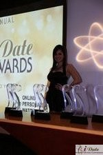 Award Model Andrea O'Campo at the 2010 Internet Dating Industry Awards in Miami