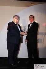 Rich Orcutt (Iovation) receiving the Best New Technology Award in Miami at the January 28, 2010 Internet Dating Industry Awards