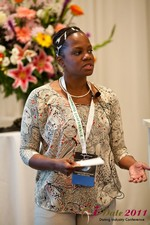 Robinne Burrell (Vice President at Match.com) at the June 22-24, 2011 Dating Industry Conference in Los Angeles