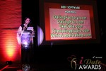 Maria Avgitidis announcing the Best Dating Software and SAAS in Las Vegas at the 2013 Online Dating Industry Awards
