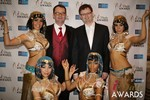 Mark Brooks & Markus Frind  in Las Vegas at the January 15, 2014 Internet Dating Industry Awards