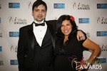 Arthur Malov & Damona Hoffman  in Las Vegas at the 2014 Online Dating Industry Awards