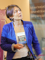 Pauline Tourneur General Manager Of Attractive World Speaking On The French Online And Mobile Dating Market at the October 14-16, 2015 London UK Internet and Mobile Dating Industry Conference