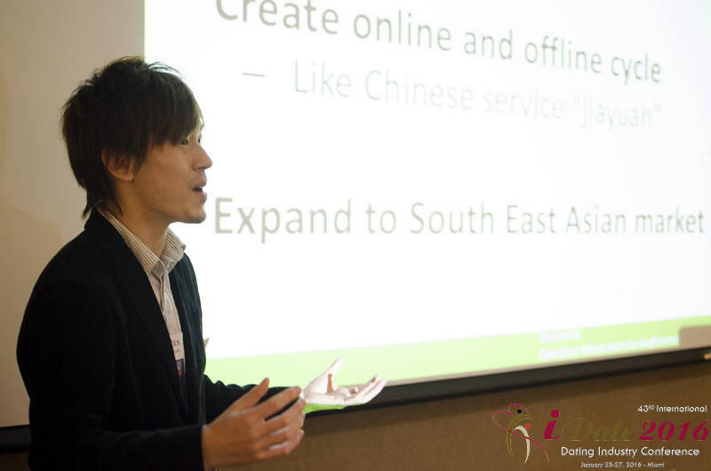 Takuya Iwamoto of Diverse YYC Provding Insight to the Japanese Online Dating Market at the January 25-27, 2016 Internet Dating Super Conference in Miami