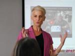 Olga Korsakova at the iDate Premium International Dating Business Executive Convention and Trade Show