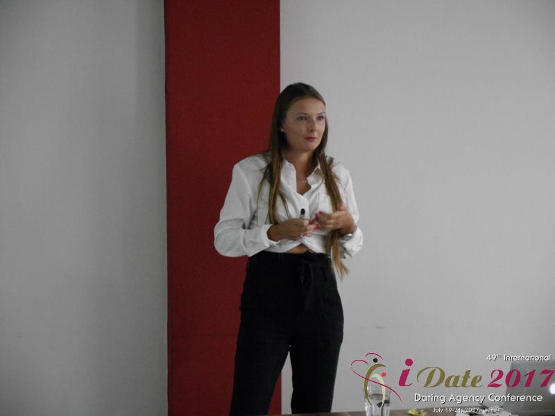 Svetlana Mukha at the 49th iDate Dating Agency Business Trade Show